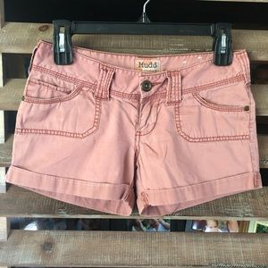 Lot of 2 Ladies Casual Shorts Size 1/2 Mudd&Gap